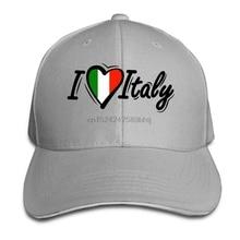 Hombres Mujeres sombrero personalizado amor a Italia Italiano bandera  ajustable simple sombrero(China) 4393644e89a