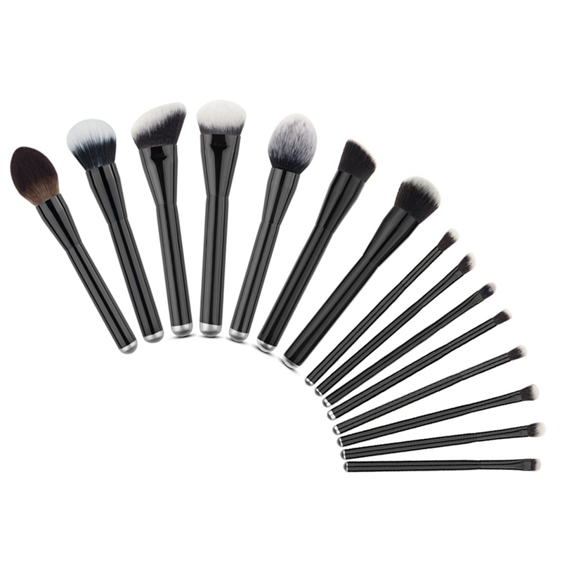 15pcs Makeup Brushes Set Nylon Hair Cosmetic Foundation Eyeshadow Blending Blush Brush Make Up Beauty Tools Kit High Quality 25pcs makeup brushes set woodcolor nylon eye foundation powder eyeshadow eyeliner blush brush make up cosmetic tools kit bag