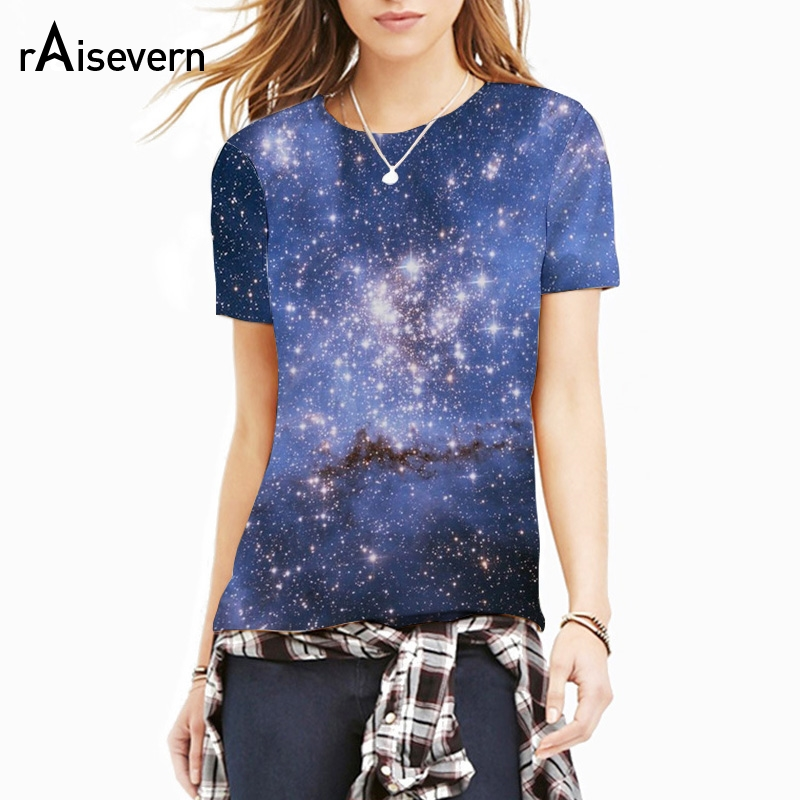 Raisevern new style galaxy space t shirt 3d full printing for Full t shirt printing