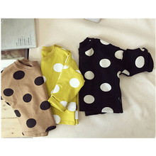 2017 Girls boys long sleeve tops cotton boys tees polka dot boys tee shirt enfant garcon girls boys clothes