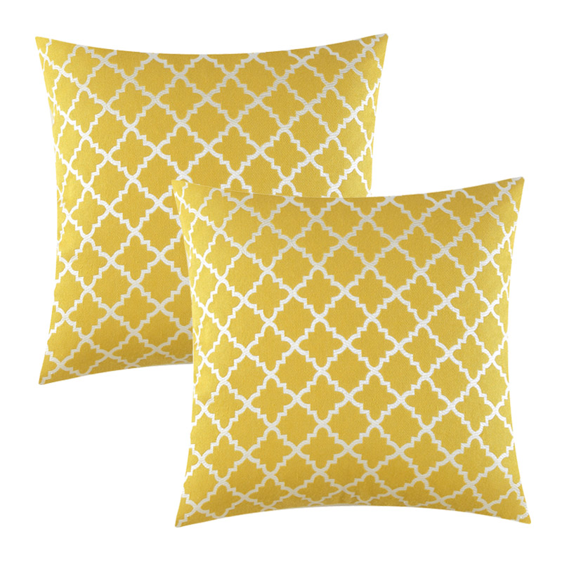 Decorative Cushion Cover Yellow Pillow Case for Sofa House Blue Cotton Geometric Throw Pillow Cover Cojines Decorativos Ara Sofa