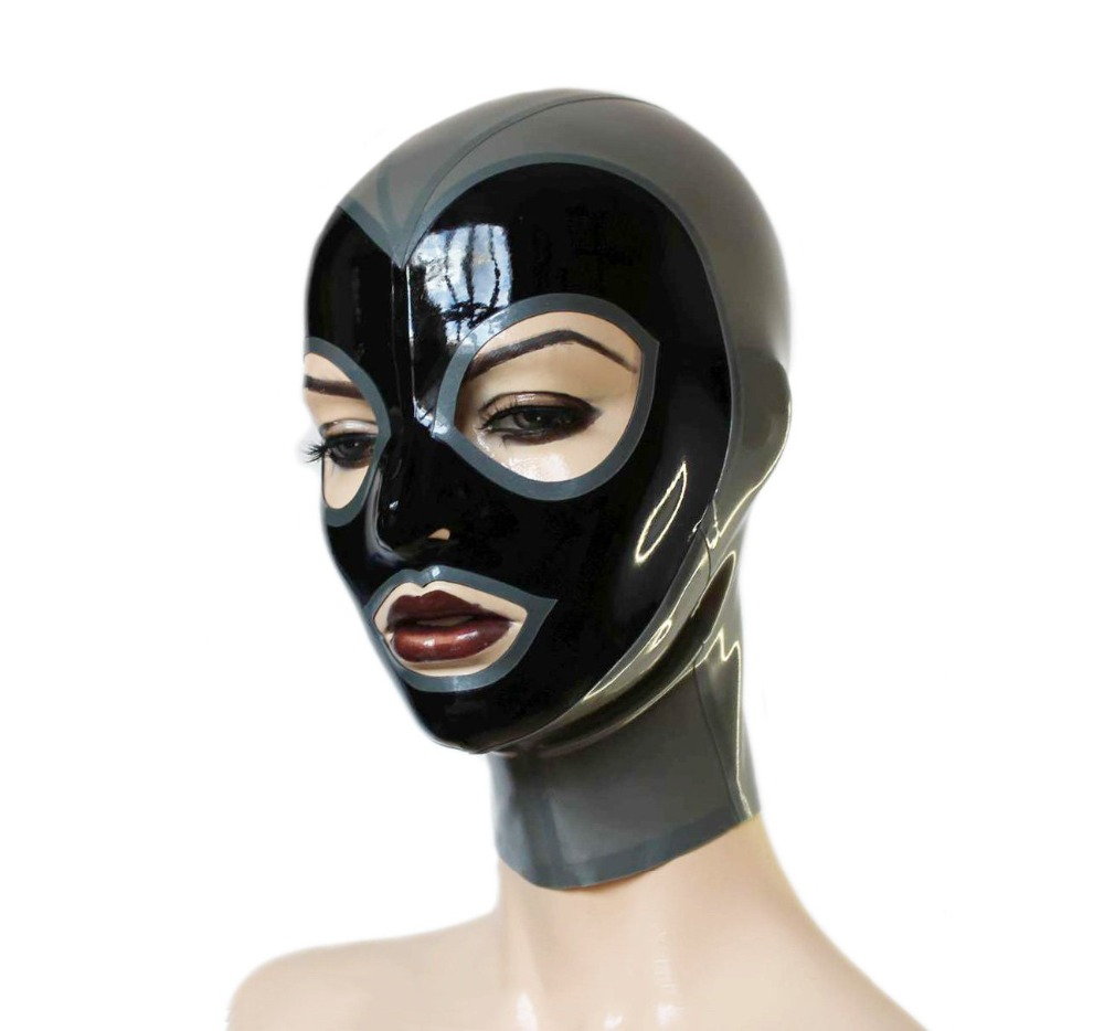 Latex Mask Open Eyes and Mouth Rubber Unisex Club Wear