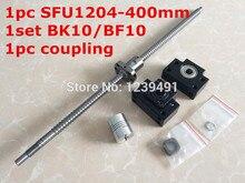 SFU1204 ШВП набор: RM1204-400 мм с конца обработанной + SFU1204 одноместный шариковая гайка + BK/BF10 конец поддержка + муфта для частей С ЧПУ