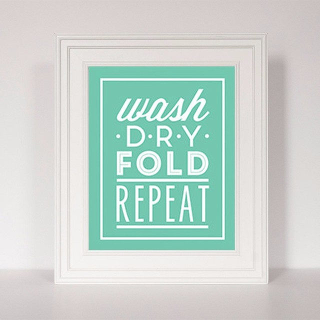 Funny Laundry Room Signs Hot Wash Dry Fold Repeat Quote  Laundry Room Art Sign Funny Art