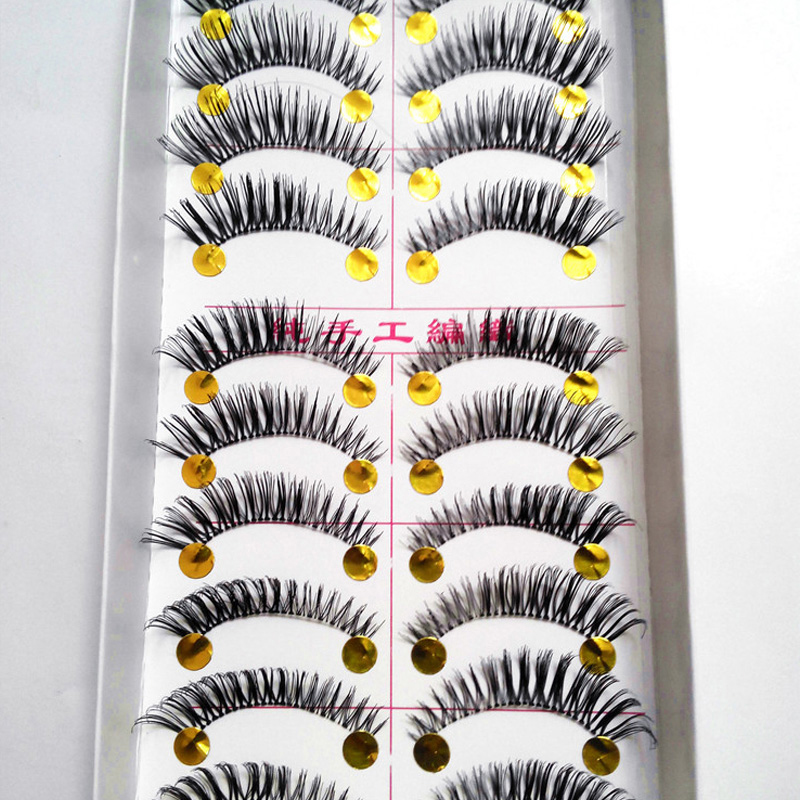 20pair Make Up Cheap Extremely False Eyelashes Thick Paragraph Big Eyes Fake Lashes Extensions Tool Maquiagem Profissional