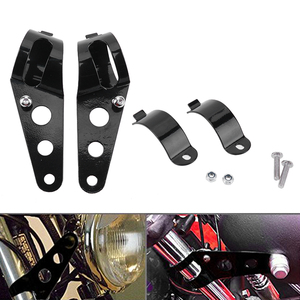 Image 2 - Soporte Universal para faro de motocicleta, 28mm 43mm, horquilla, picadora, ajuste del Motor, color negro
