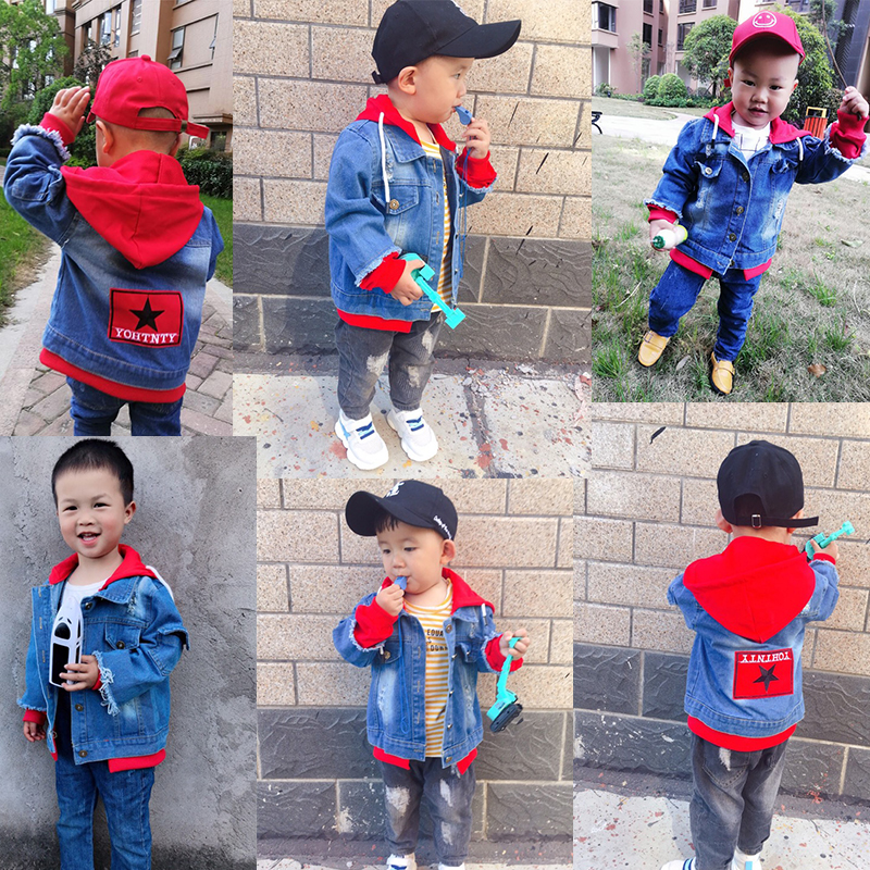 hoodies casaco denim manga longa outerwear criancas 05