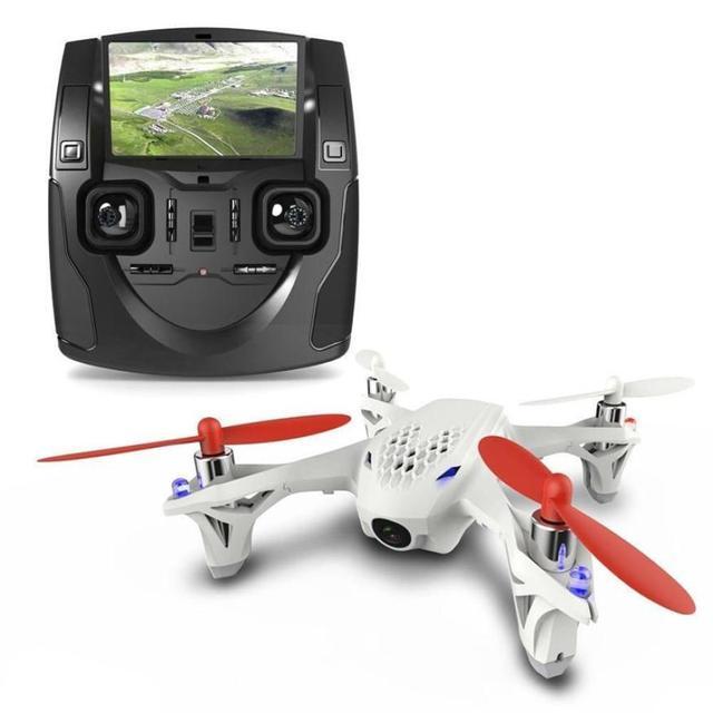 Venta caliente Hubsan X4 H107D FPV Quadcopter Helicóptero 5.8 Ghz Transmisor Controlador LCD Cámara Drone Aug9