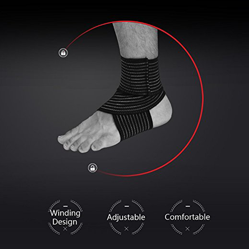 1Pair Elastic Breathable Wrap Ankle Support Brace Compression Knee Elbow Wrist Ankle Hand Support Wrap Sports Bandage Strap 5