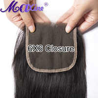 Peruvian Closure 6x6 Lace Closure Straight Closure Preplucked Free Part 100% Human Hair Swiss Lace Extensions Remy Hair Maxine