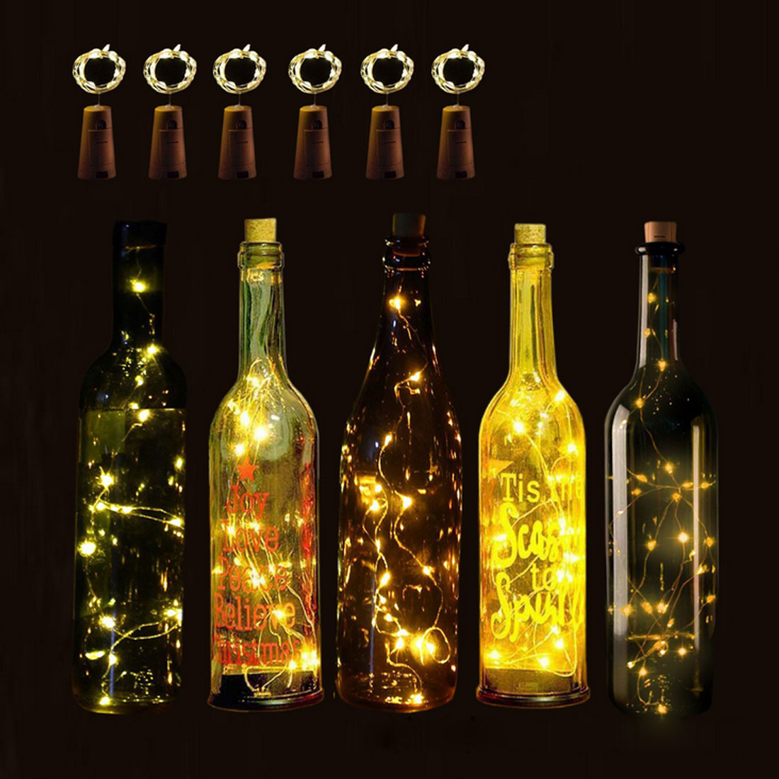 1PC Twinkle Garlands Battery Powered  LED Light String Christmas Lamp Holiday Party Wedding Decorative Fairy Lights