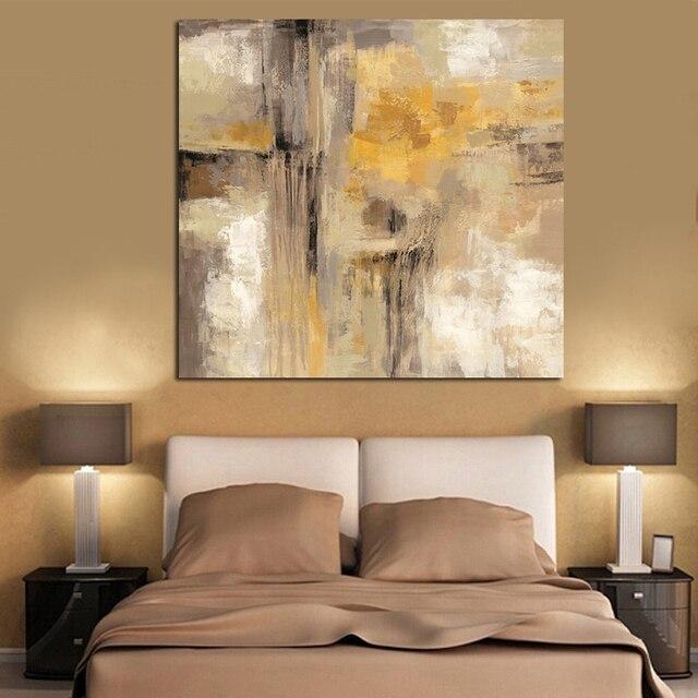 Hd Impression Jaune Gris Abstrait Peinture  LHuile Sur Toile