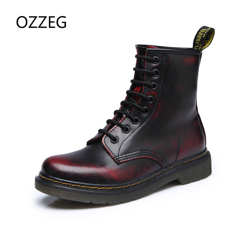 Autumn Winter Women Shoes Genuine Leather Ankle Boots New Fashion Woman Martin Boots High Quality Women Boots Plus Size 35-44 new 2017 autumn winter women genuine leather boots unisex martin boots motorcycle retro shoes high quality plus size 35 44