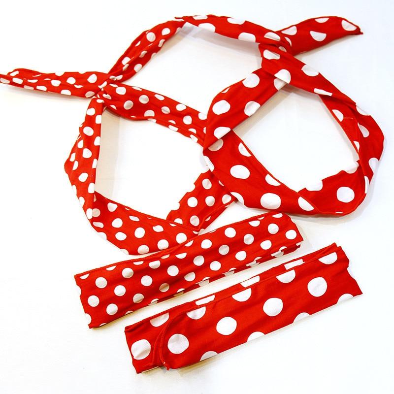 New arrival women's DIY bow-knot headband korea style Dot women hair accessories Warm red headbands for girl elegant   headwear