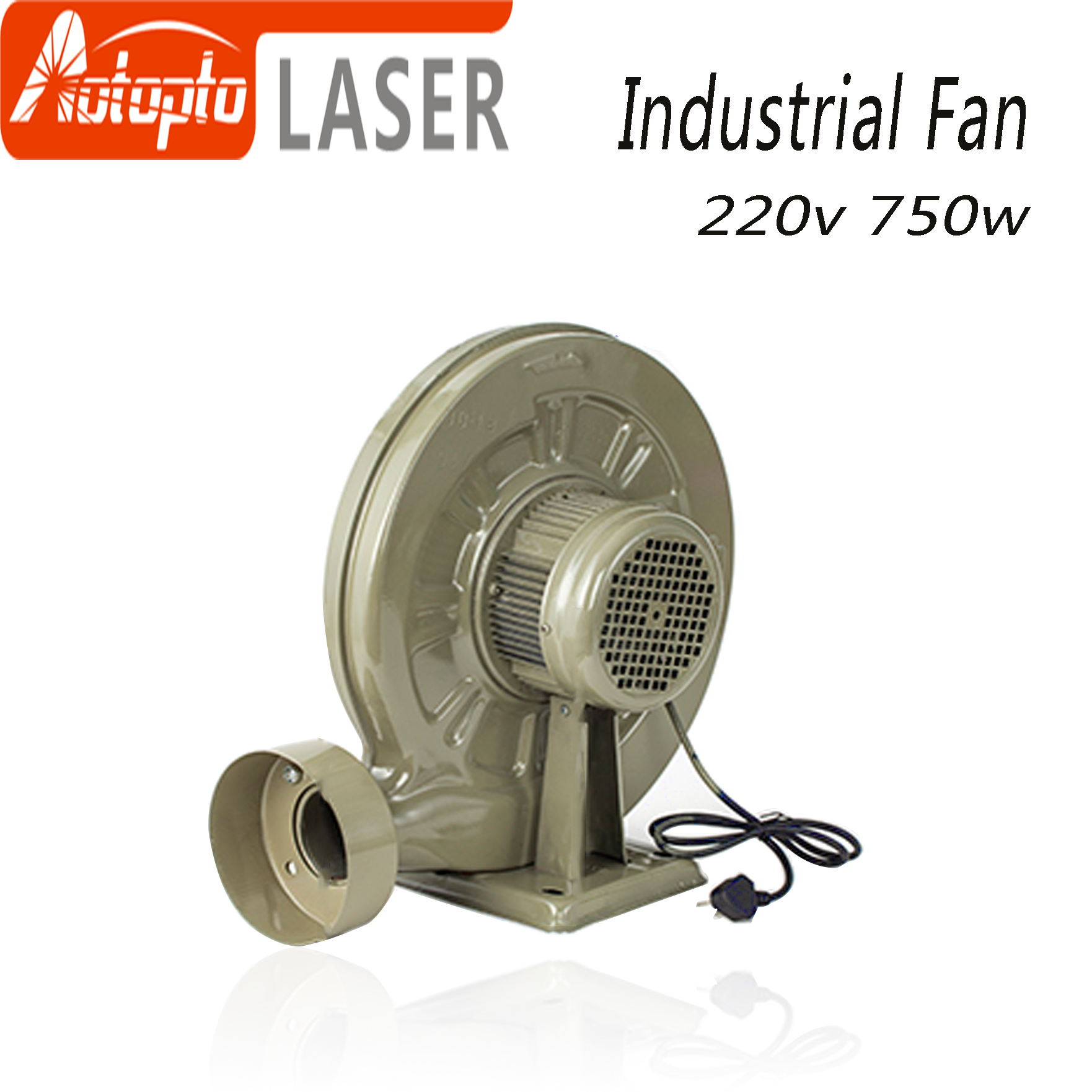 220V 550W  750w Exhaust Fan Air Blower Centrifugal For CO2 Laser Engraving Cutting Machine Medium Pressure Lower Noise