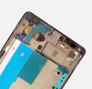 "Image 4 - สีดำสำหรับ 5.7 ""Microsoft Nokia Lumia 950XL touch หน้าจอ LCD และ digitizer assembly สำหรับกรอบสำหรับ Lumia 950 XL RM 1116"