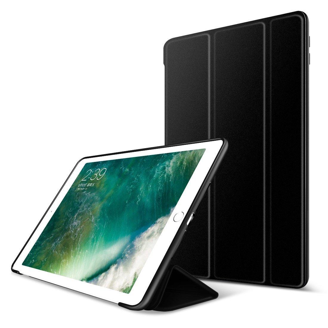 For 2017 Apple iPad Pro 10.5 Case, Slim Smart Case Folding Stand Auto Sleep/Wake Case Cover For  iPAD 10.5 PU + TPU back Case for ipad air 2 case slim pu leather silicone soft back smart cover sturdy stand auto sleep for ipad air2 ipad 6 coque stylus