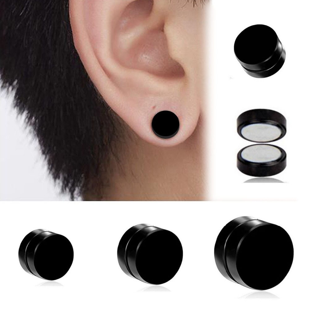 Affordable Men S Titanium Steel Magnetic Clip On Stud Earrings