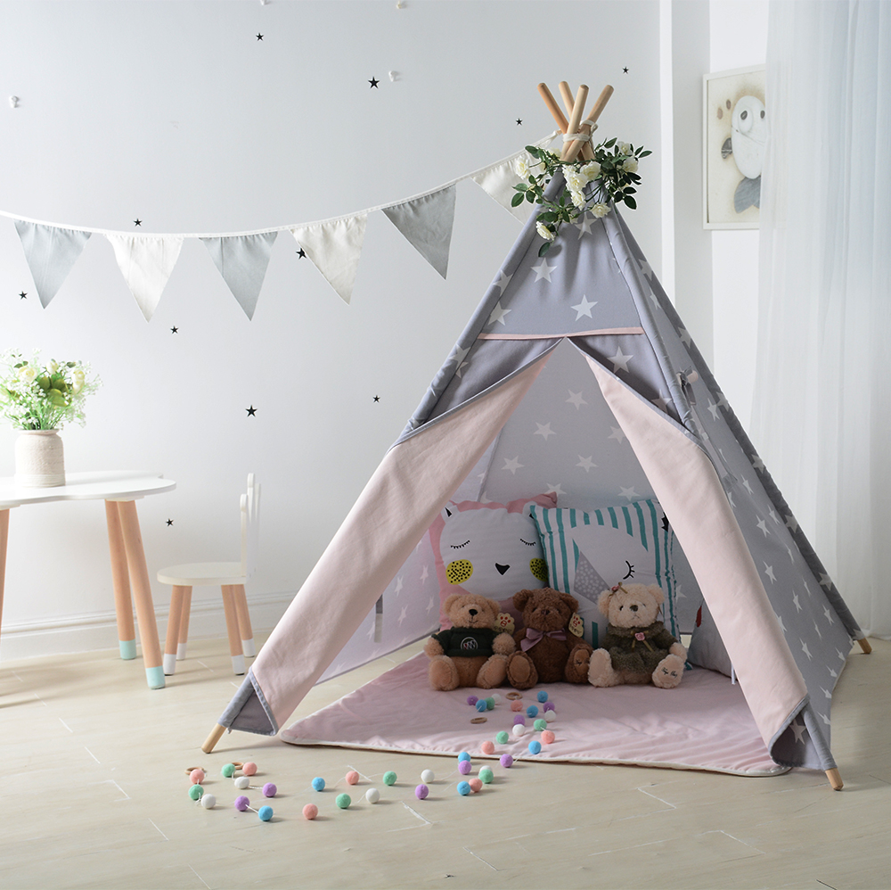 Love Tree Girls & Boys Priness Happy Play Tent For Kids Teepee Tents Tipi hot sale indian wood tent teepee tents for sale for sale teepee tent for party