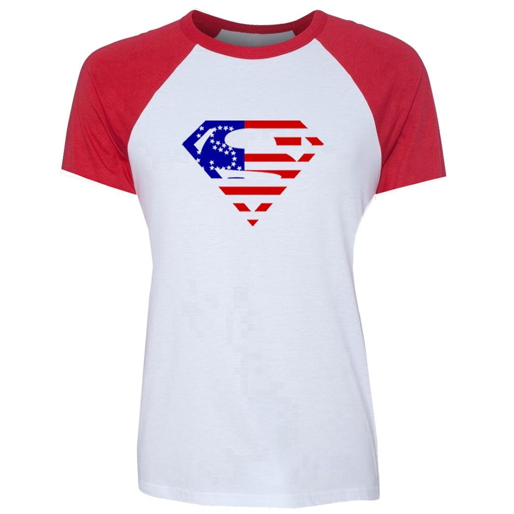 Popular Superman Symbol Tee Shirts For Lady Girl Fashion Black Red