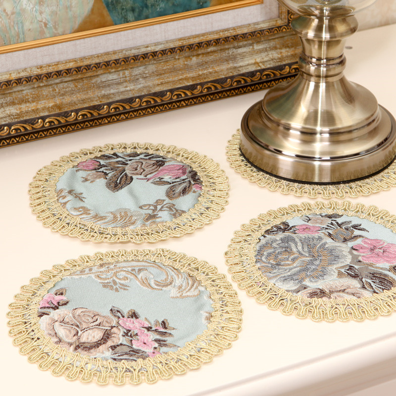 European Embroidery placemats Fashion place mat dining table mat Table placemats for table decoration accessories