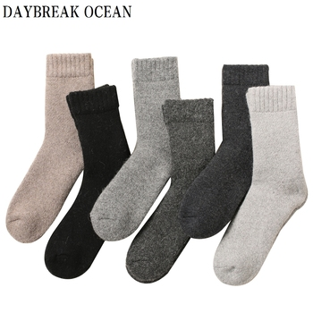 Big Size High Quality Brand New Men Angola Rabbit Wool Socks Casual Thicken Warm Soft Autumn Winter Men's Socks image
