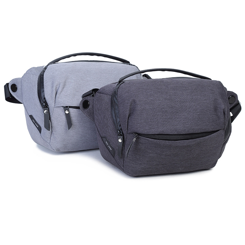 Waterproof 5L Gray Dark Gray DSLR Camera Bag Shoulder Bag Camera Case for Canon Nikon Sony
