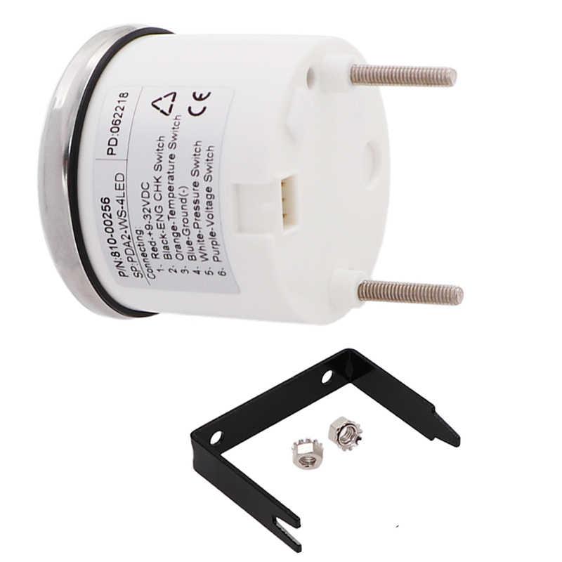 Digital Motorcycle Voltmeter Alarm Gauge Meter Oil Pressure Water  Temperature Engine Alarm 9-32V Red Backlight