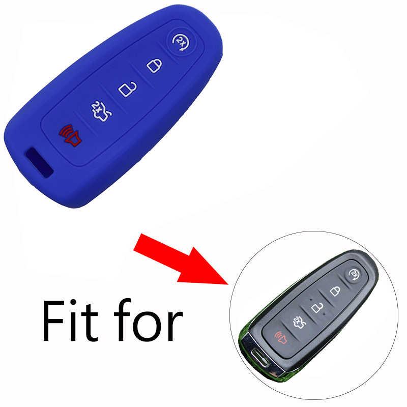 Умный силиконовый чехол для автомобильных ключей для Ford Explorer Edge Escape aurus Flex 2011 2012 2013 2014 2015 5 кнопок дистанционного ключа