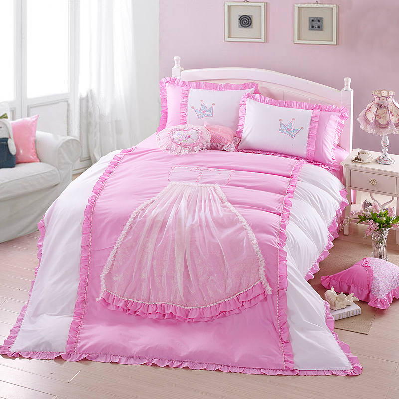 Buy 4pcs beand king queen size princess - Housse de couette disney princesse ...