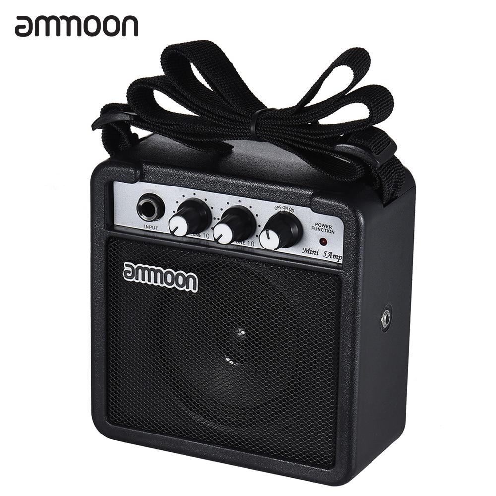 ammoon mini guitar amp amplifier speaker 5 watt 9v battery powered for electric guitar ukulele. Black Bedroom Furniture Sets. Home Design Ideas