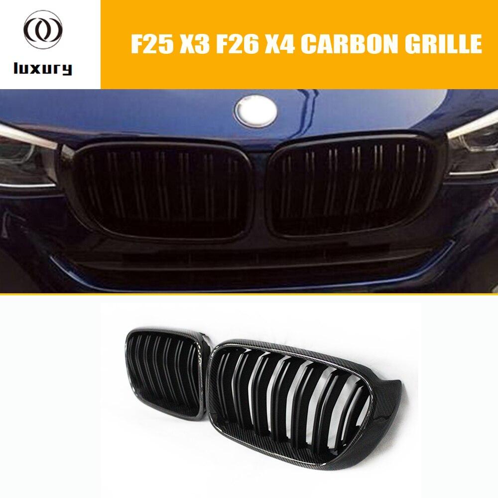 F25 F26 En Fiber De Carbone Grille De Pare-chocs avant pour BMW F25 X3 F26 X4 2014 2015 2016