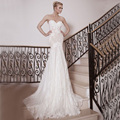 RSB Latest Design Sweetheart Off Shoulder Sexy Backless Bridal Dresses Long Tulle Appliques Lace Mermaid Wedding Dress 2016