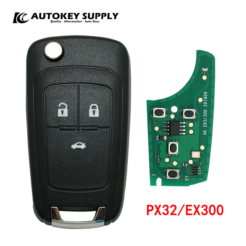 Car styling For Chave Canivete Chevrolet Placa Chip Positron Programa Duplo PX32 EX300 for car key