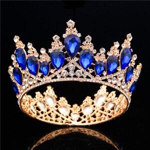 Image 2 - バロッククリスタル女王ティアラ王冠ウェディングパーティー結婚式の髪の宝石のティアラと王冠ヘッドバンドヘッドの装飾品