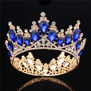 Image 2 - Baroque Crystal Crown Bridal Queen Tiara Diadem Prom Party Wedding hair jewelry Tiaras and Crowns Headband Head Ornaments