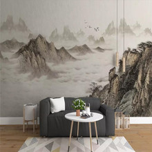 Artistic concept abstract ink landscape living room wall professional production wallpaper mural custom poster photo