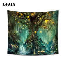 Wishing Trees Tapestry 3D Print Wall Hanging Psychedelic Decorative Wall Carpet Bed Sheet Bohemian Hippie Couch Throw Home Decor(China)