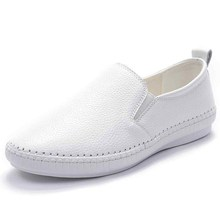 Comfortable fashion  genuine leather round toe Slip-On Spring/Autumn woman casual shoes