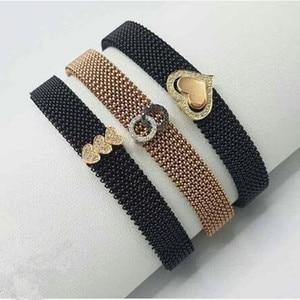 Image 5 - Somsoar Sieraden rvs veerkrachtig Mesh Armband luxe Polsband hand made Mesh Armband om groothandel 10 stks/partij