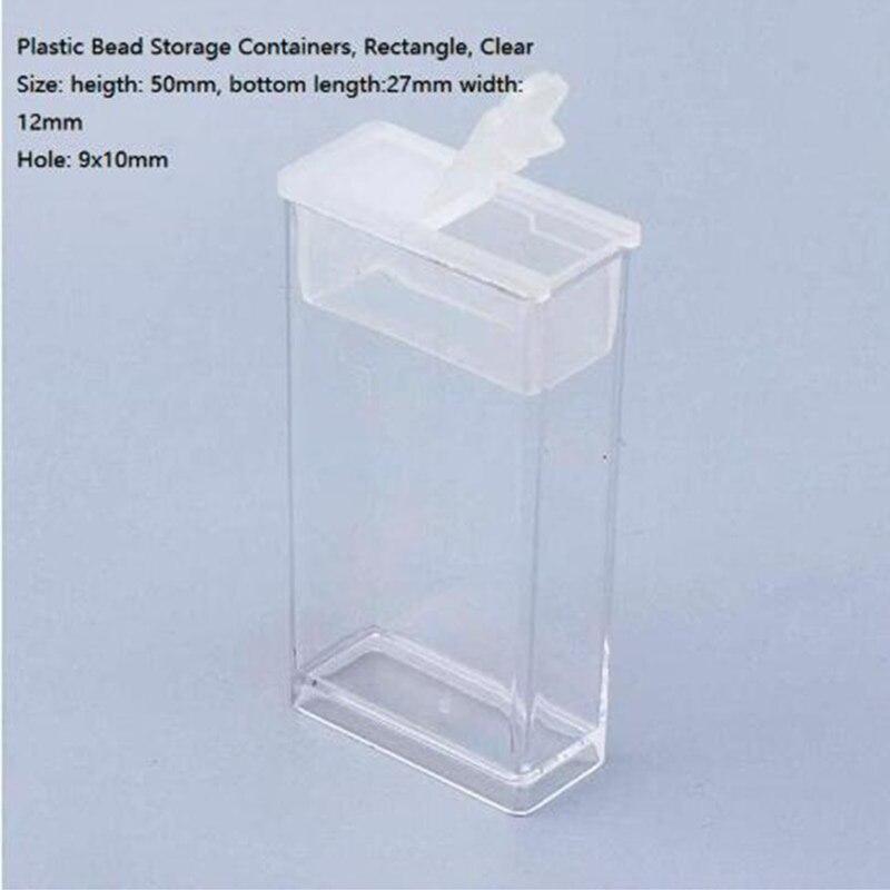 Diamant peinture accessoires boîte bricolage conteneur broderie mosaïque outils perle point de croix en plastique perceuse stockage 50x27x12mm