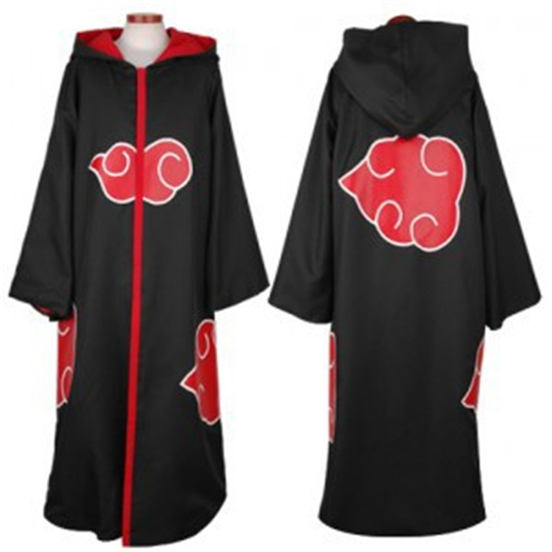 Adult Anime Naruto Akatsuki Uchiha Itachi Cosplay Costumes for Men Women Halloween Christmas Party Costume Cloak Cape