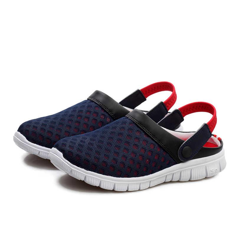 Мужская обувь 2019 летние мужские дышащие Сникеры сетчатая Повседневная легкая обувь Модные слипоны кроссовки