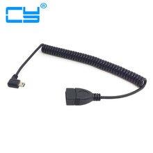 5pin para Fêmea Cabo de Estiramento 100 CM 90 Graus Direito Angular Mini Conector Usb Extensão