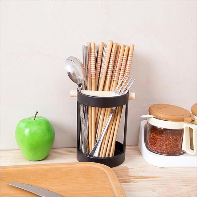 Knife Fork Chopsticks Storage Rack Spoon Tableware Drain Bucket Holder  Drain Rack Shovel Spoon Bucket Knife