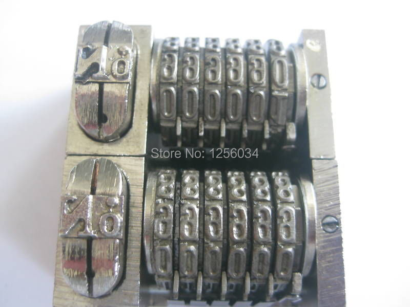 4 pieces 6-digit numbering machine, platen letterpress printing machine, model number 51 machines printing number machine