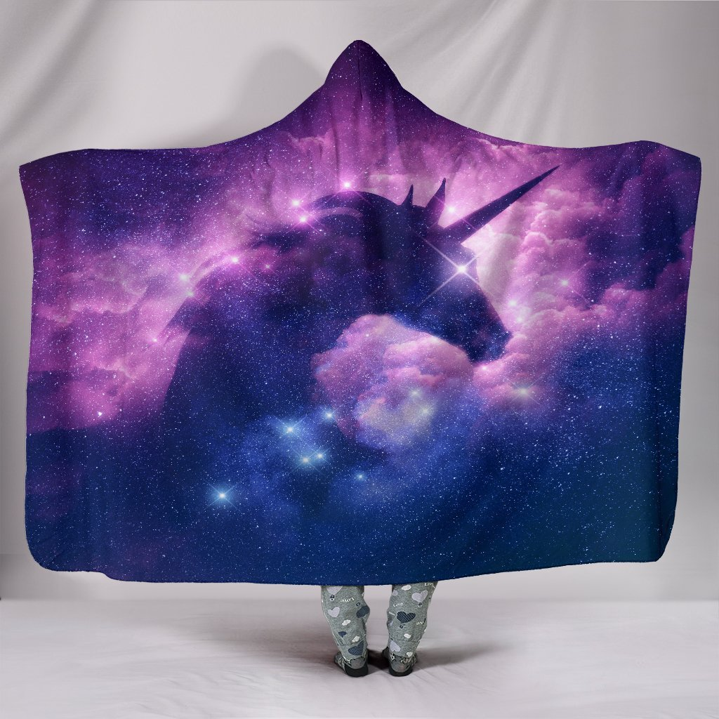 Cosmic Unicorn Hooded Blanket unisex 3D hooded blanket woman fashion new 2019 cloth coat spring winter cloth women