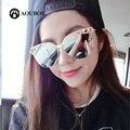 AOUBOU Negro Mariposa gafas de Sol de Diseñador de la Marca Mujeres Aleación de La Vendimia Flecha UV400 Thin Últimas Tendencias Gafas de Sol Gafas de Sol Mujer