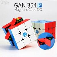 Gan354m cubo magnético 3x3x3 cubo de velocidade mágica 3x3 cubo magico gan 354 m stickerless gan 354 m quebra cabeça brinquedos da torção para crianças Cubos mágicos     -