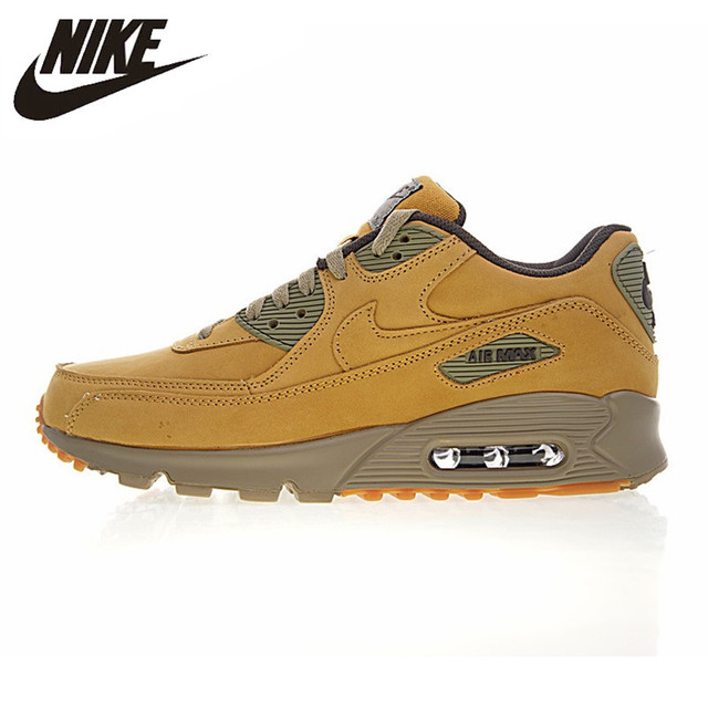 brand new 4df18 77373 Nike Air Max 90 Winter PRM Men s and Women s Running Shoes, Yellow, Warm  Shock Absorption Impact Resistance Non-slip 683282 700